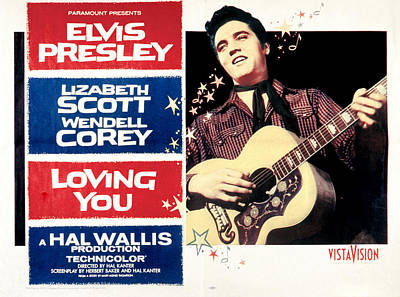 Loving You, Elvis Presley, 1957 Poster by Everett