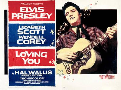 Loving You, Elvis Presley, 1957 Poster by Everett