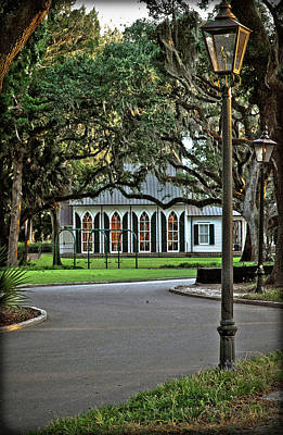 Low Country Wedding Chapel Poster by Margaret Palmer