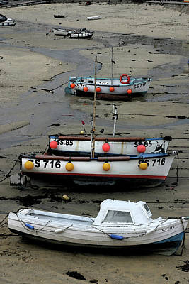 Low Tide At St. Ives Harbor Poster