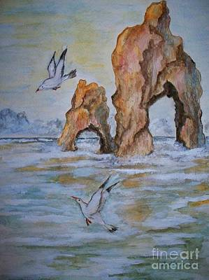 Poster featuring the painting Low Tide by Carol Grimes