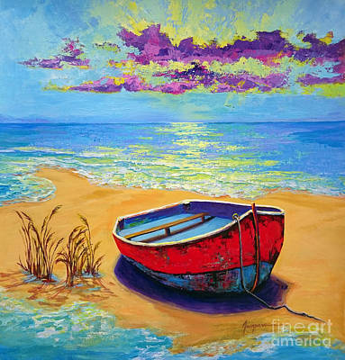 Low Tide - Impressionistic Art, Landscpae Painting Poster