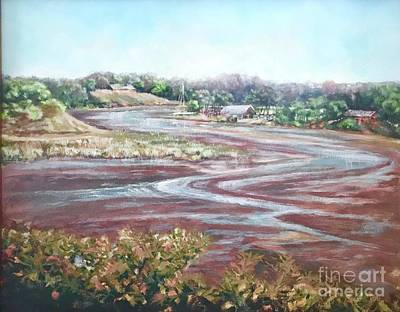 Poster featuring the painting Low Tide In The Cove by Gail Allen