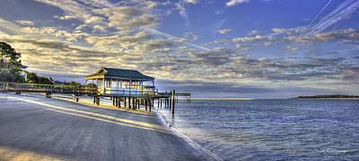 Low Tide Sunrise Tybee Island Poster by Reid Callaway