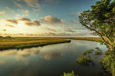 Pitt Street Bridge Creek Sunrise Poster