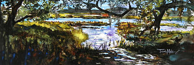 Lowcountry Summer Marsh Iv Poster by Trish McKinney