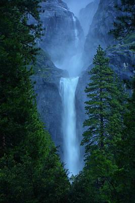 Lower And Middle Yosemite Falls Poster by Raymond Salani III