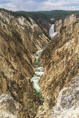 Lower Falls Of The Yellowstone - Portrait Poster