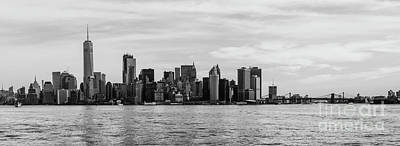 Lower Manhattan And The Brooklyn Bridge Poster by Thomas Marchessault