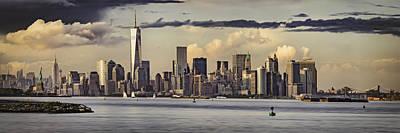 Lower Manhattan Panorama Poster by Eduard Moldoveanu