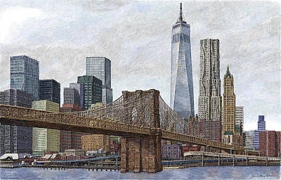 Lower Manhattan Skyline 2 Poster