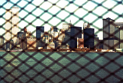 Lower Manhattan Through The Fence Poster