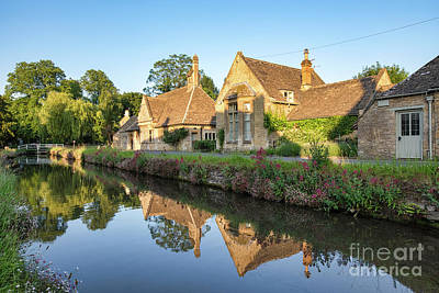 Lower Slaughter Summer Evening Poster by Tim Gainey