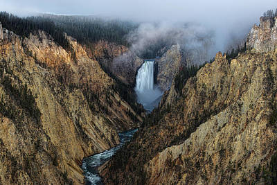 Lower Yellowstone Falls Sunrise Poster