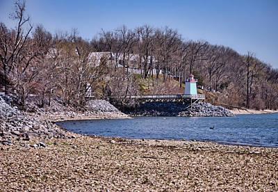 Lowtide Near Lighthouse Landing On Kentucky Lake Poster by Greg Jackson