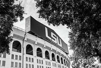 Lsu Between The Oaks - Bw Poster