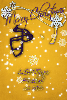 Lsu Tigers Christmas Card 2 Poster