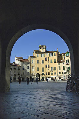 Lucca Piazza Poster