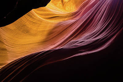 Lucid Waves - Antelope Canyon Poster