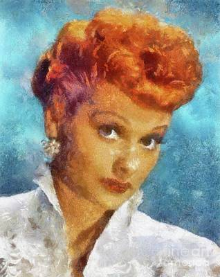 Lucille Ball By Sarah Kirk Poster