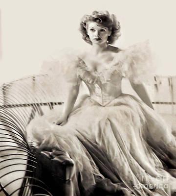 Lucille Ball Poster by Joan Minchak