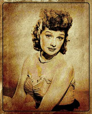Lucille Ball Vintage Hollywood Actress Poster by Esoterica Art Agency