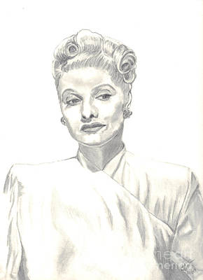 Poster featuring the drawing Lucille by Carol Wisniewski