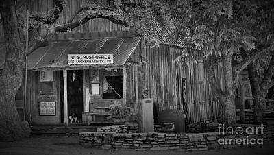 Luckenbach Post Office Poster by Dennis Nelson