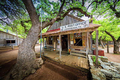 Luckenbach Town Poster by Inge Johnsson