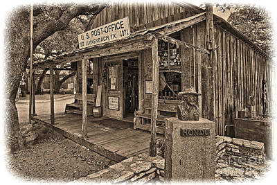 Luckenbach, Tx Post Office Poster