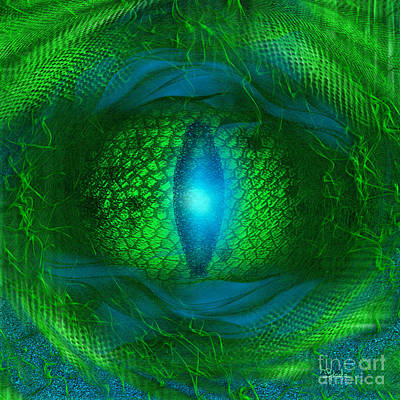 Poster featuring the digital art Lucky Dragon's Eye - Abstract Art By Giada Rossi by Giada Rossi