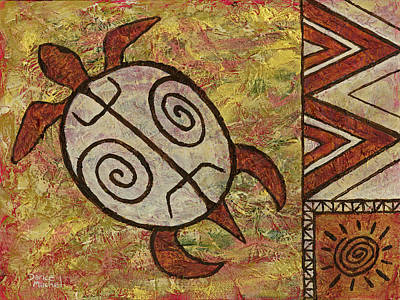Poster featuring the painting Lucky Honu by Darice Machel McGuire