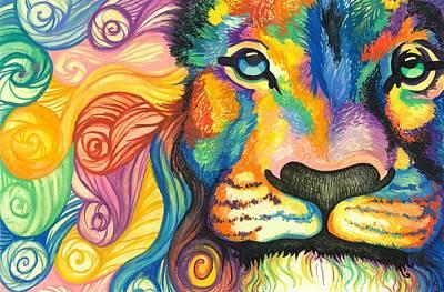 Lucky Lion Spirit Poster by Sarah Jane