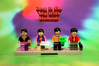 Lucy In The Sky With Diamonds Lego Poster by David Stasiak