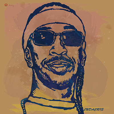 Ludacris Pop Stylised Art Sketch Poster Poster by Kim Wang