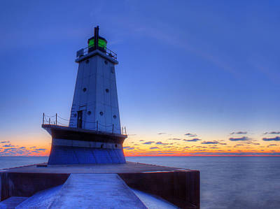 Ludington Michigan Lighthouse Poster by Twenty Two North Photography