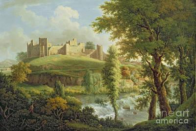 Ludlow Castle With Dinham Weir Poster by Samuel Scott