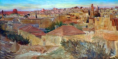 Ludwig Blum Old Jerusalem 1923 Poster by Munir Alawi