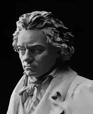 Poster featuring the mixed media Ludwig Van Beethoven by Daniel Hagerman