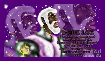 Luke 1.32 Poster