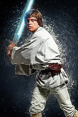 Luke Skywalker Poster by Taylan Apukovska