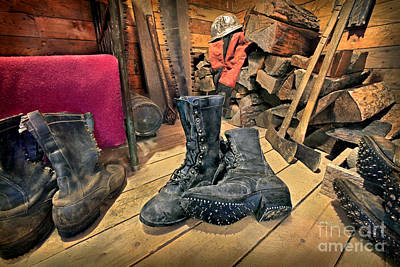 These Boots Are Made For Logging Poster by Martin Konopacki