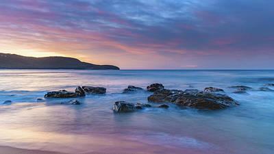 Luminescent Sunrise Seascape Poster