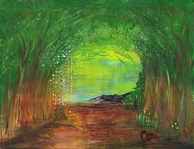 Luminous Path Poster