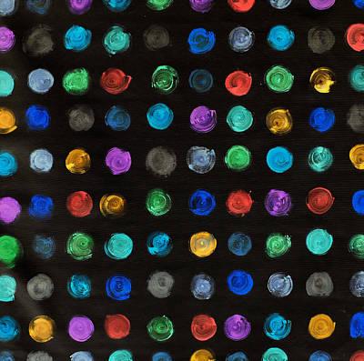 Luminous Polka Dots Poster