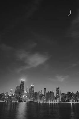 Lunar Chicago Poster by Donald Schwartz