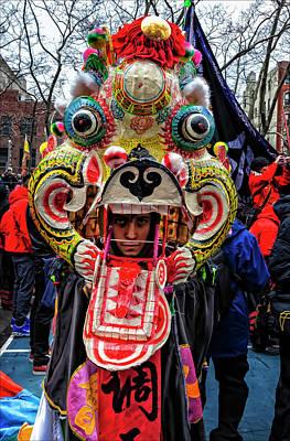 Lunar New Year Nyc 2017 Lion Dancer Poster by Robert Ullmann