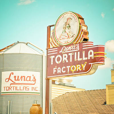 Luna's Silo And Sign Poster by David Waldo