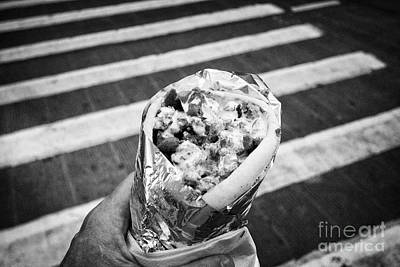 lunch on the go lamb gyro kebab downtown New York City USA Poster