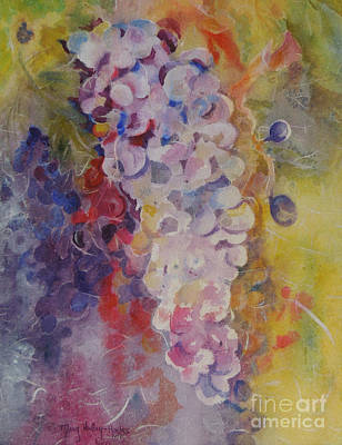 Poster featuring the painting Luscious Grapes by Mary Haley-Rocks